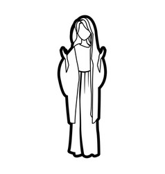Saint virgin mary religion catholic image vector