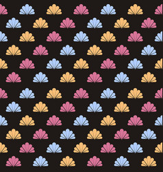seamless flower polka pattern vector image