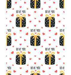 seamless pattern with cute presents vector image
