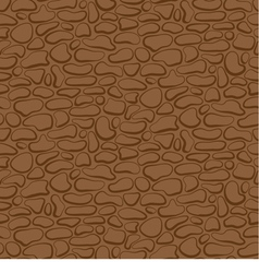 Seamless stone wall brown pattern vector