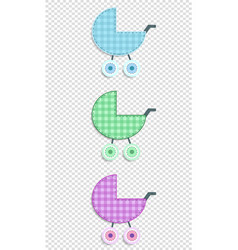 set of baby clip art stroller for scrapbook or vector image