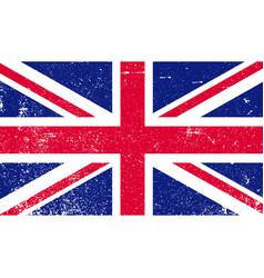 shabby british flag flag gb grunge style vector image
