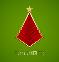 Simple Christmas tree vector image