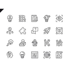 simple set startup related line icons vector image