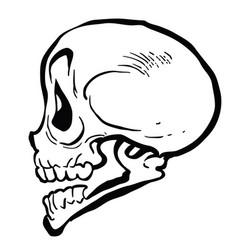 Skull4black vector