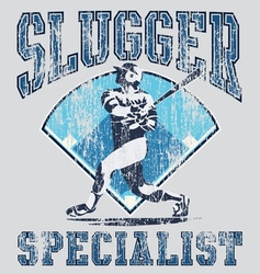 slugger batter vector image