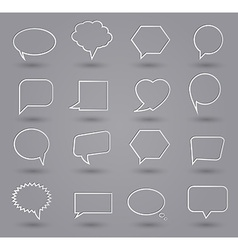 Speech bubbles thin grey vector image