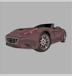 Sport car ferrari vector