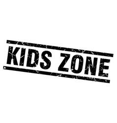 Square grunge black kids zone stamp vector