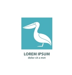 Stylized silhouette of a Pelican vector image