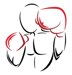 Symbol boxer vector image