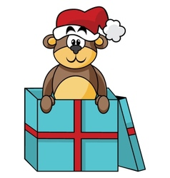 Teddy in box vector image