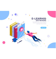 Tutorial search e-learning banner vector