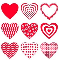 valentine heart set vector image