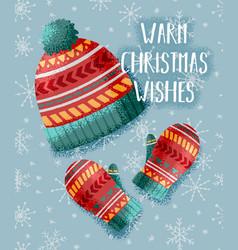 warm christmas card vector image