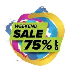 Weekend sale badge vector