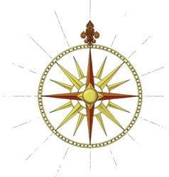 wind rose symbol vector image