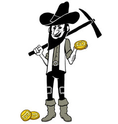 bitcoin miner cartoon vector image vector image