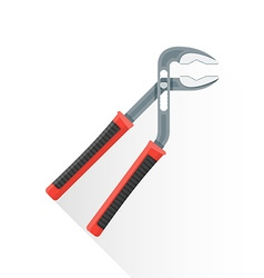 flat water pump pliers icon vector image