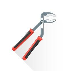 flat water pump pliers icon vector image vector image