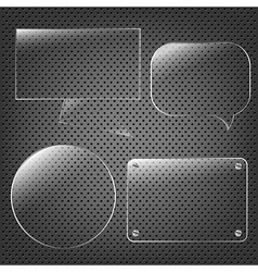 Glass Framework Set On Abstract Metal Background vector image