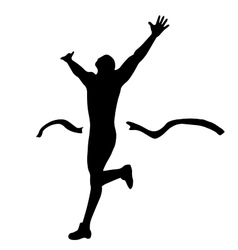 Hiqh quality male runner on finish vector image vector image