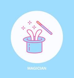 magician line icon logo for vector image