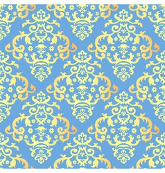 seamless background with vintage gold vector image vector image
