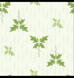 seamless floral pattern wallpaper with green leave vector image
