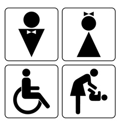 wc icons set vector image