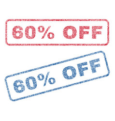 60 percent off textile stamps vector image vector image