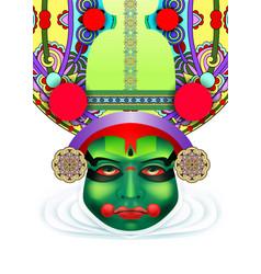 indian kathakali dancer face vector image