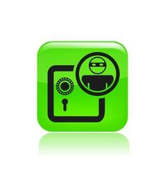 bank thief icon vector image vector image