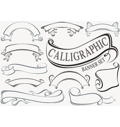 Calligraphic Banner Set vector image