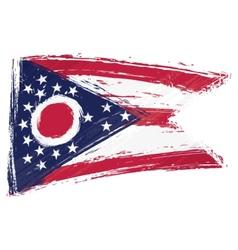 Grunge Ohio flag vector image vector image