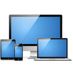 Laptop tablet desktop mobile vector