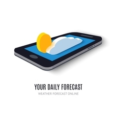 Online daily forecast concept isometric icon vector image vector image