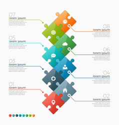 8 options infographic template vector image vector image