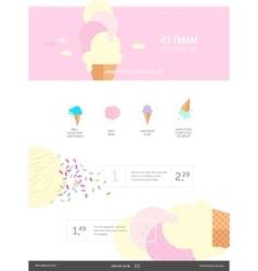 Ice cream website pink template vector image vector image