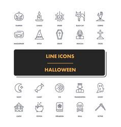 line icons set halloween 2 vector image