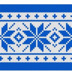 Skandinavian knitted pattern vector image