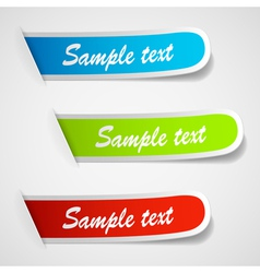 sticker labels vector image