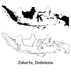 1085 jakarta indonesia vector image