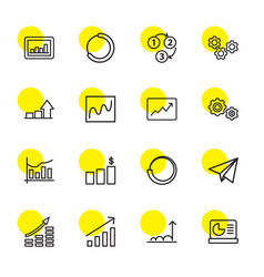 16 progress icons vector image
