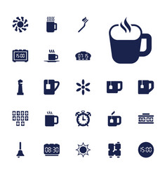 22 morning icons vector