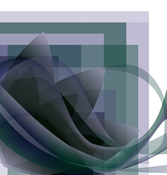 abstract flower with waves on a square gradient vector image