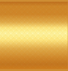 abstract golden hexagon border pattern on luxury vector image