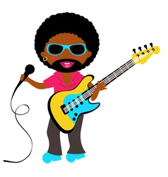 African american rockstar vector