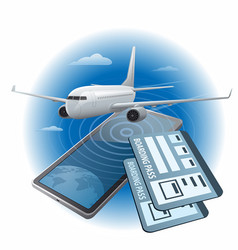air tickets buying vector image