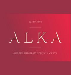 alphabet font modern serif typography typeface vector image